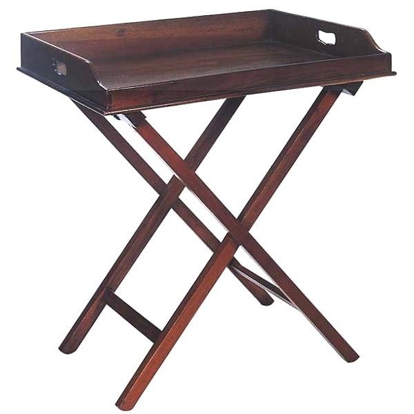ProPassione Eichholtz Butlertisch, Kirschbaumfinish, Tablett abnehmbar, klappbar, L 77 x B 60 x H 87 cm