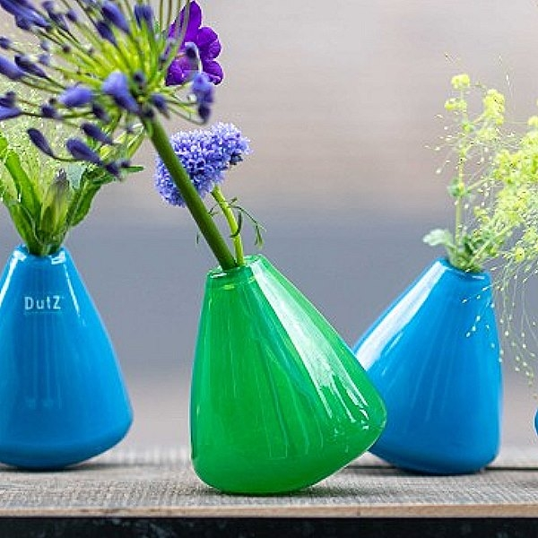 DutZ®-Collection Tumbling Vase  H 12 x Ø 10 cm, Dschungelgrün