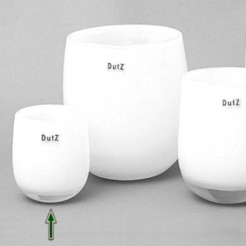 DutZ®-Collection Vase Barrel, H 13 x Ø 10 cm, Weiß