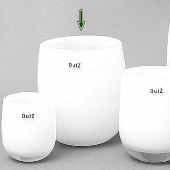 Collection DutZ® Vase Barrique, h 24 x Ø 18 cm, blanc