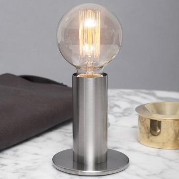 Edgar Design table lamp Sol, Silver, 3-level touch dimmer, incl. spherical Edison-Lightbulb E27/40W, h 24 x Ø 11 cm
