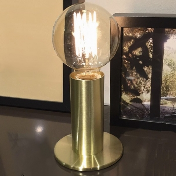 Edgar Design table lamp Sol, Gold, 3-level touch dimmer, incl. spherical Edison-Lightbulb E27/40W, h 24 x Ø 11 cm