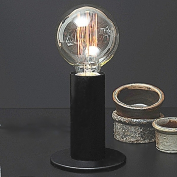 Edgar Design table lamp Sol, Black, 3-level touch dimmer, incl. spherical Edison-Lightbulb E27/40W, h 24 x Ø 11 cm