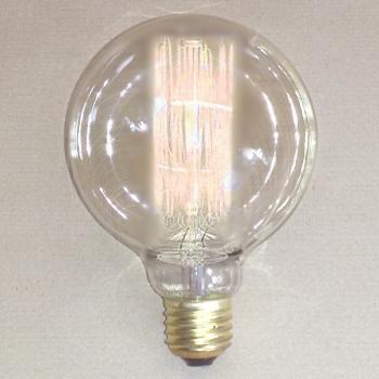 Edgar Design Edison-Lightbulb, spherical, E27/40W, h 13 x Ø 9.5 cm