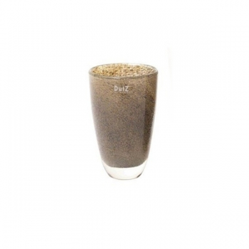 DutZ®-Collection Flower Vase, h 21 x Ø 13 cm, silver/brown with bubbles