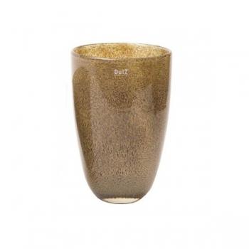 Collection DutZ® Vase, h 32 cm x Ø 21 cm, argent/marron avec cloques