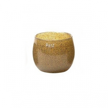 DutZ®-Collection Vase Pot, h 11 x Ø 13 cm, silver/brown with bubbles