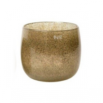 DutZ®-Collection Vase Pot, h 18 x Ø 20 cm, silver/brown with bubbles