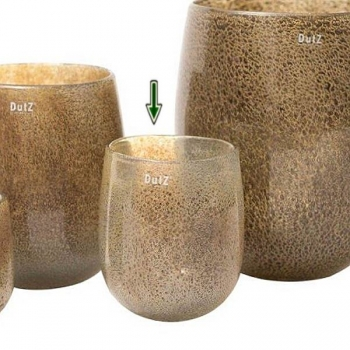 DutZ®-Collection Vase Barrel, h 18 x Ø 14 cm, silver/brown with bubbles