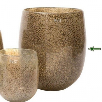 DutZ®-Collection Vase Barrel, h 32 x Ø 27 cm, silver/brown with bubbles