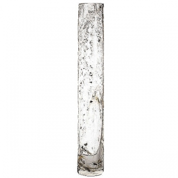 Collection DutZ®  vase Cylinder, h 70 x Ø 10 cm, transparent avec flocons métal