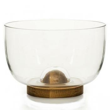 Sagaform Design Bowl/Salad Bowl with oak wood base, h 15 x Ø 22 cm