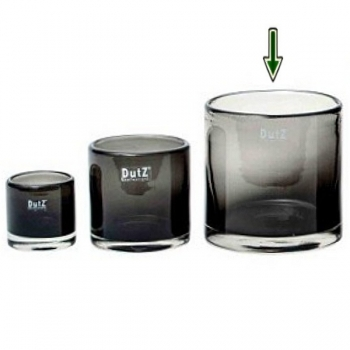 DutZ®-Collection Vase Cylinder, H 14 x Ø 14 cm, Smoke