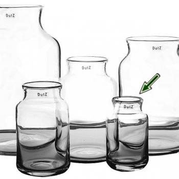 DutZ®-Collection Vase Nova, h 20 x Ø 12 cm, clear