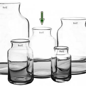 Collection DutZ® Vase Nova, h 30 cm x Ø 19 cm, transparent