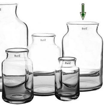 Collection DutZ® Vase Nova, h 35 cm x Ø 22 cm, transparent