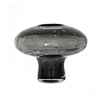 Henry Dean Vase Cato wth foot, H 11 x Ø 12 cm, Smoke