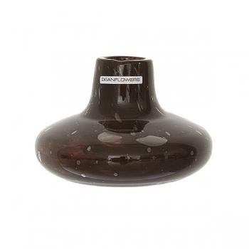 Henry Dean Vase Cato, H 11 x Ø 12 cm, Brunette