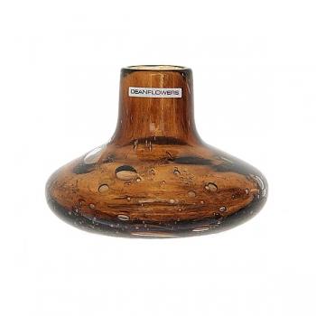 Henry Dean Vase Cato, H 11 x Ø 12 cm, Cognac
