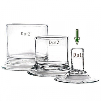 DutZ®-Collection Candle Holder for table candles Ø 2,5 cm, h 8 x Ø foot 10 cm, clear