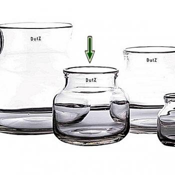 DutZ®-Collection Vase Bouquet, H 18 x Ø 19 cm, Klar