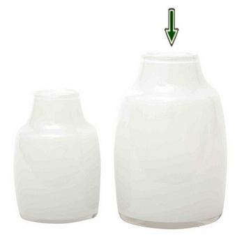 DutZ®-Collection Vase Moderno, H 21 x Ø 13 cm, Weiß
