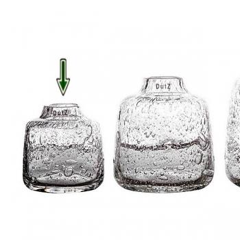 DutZ®-Collection Vase Tisza, H 15 x Ø 14 cm, Klar mit Bubbles