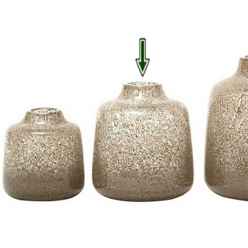 DutZ®-Collection Vase Tisza, H 19 x Ø 18 cm, Klar mit Metallflakes