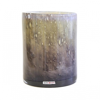 Henry Dean Vase/Windlight Cylinder, h 16.5 x Ø 13,5.5 cm, Nebelung