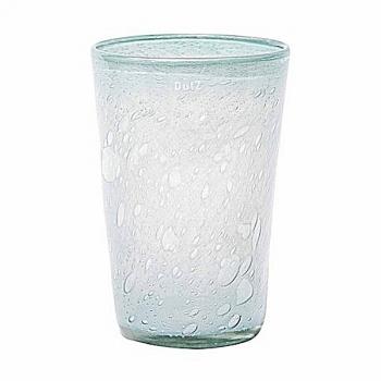 Collection DutZ® vase Conic avec des bulles, h 30 x Ø 20 cm, bleu clair
