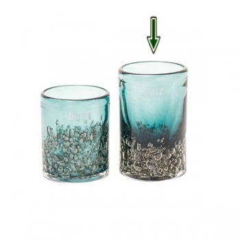 DutZ®-Collection Vase Cylinder, H 14 x Ø 9 cm, Pinie mit Bubbles