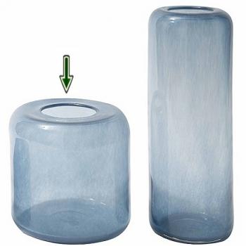 dutz collection vase mira h 30 x 30 cm stahlblau 107074. Black Bedroom Furniture Sets. Home Design Ideas