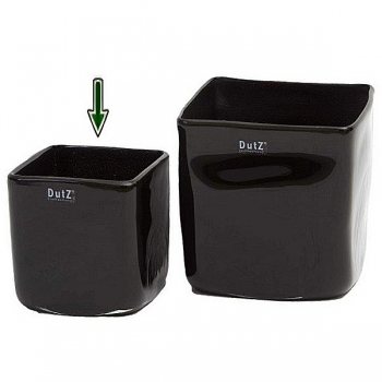 DutZ®-Collection Vase Square, h 14 x w 14 x d 14 cm, black