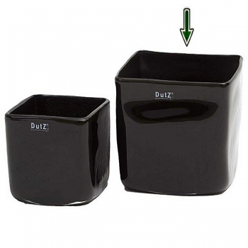 DutZ®-Collection Vase Square, h 18 x w 18 x d 18 cm, black