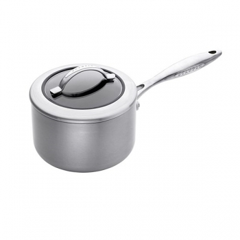 SCANPAN CTX, Sauce Pan with glass lid, stainless steel, non-stick coating, handles stainless steel, Ø 16 cm, 1.8 l