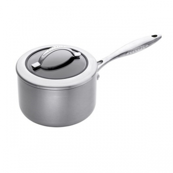 SCANPAN CTX, Sauce Pan with glass lid, stainless steel, non-stick coating, handles stainless steel, Ø 18 cm, 2.5 l