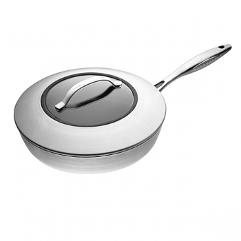 SCANPAN CTX, Sauté Pan with glass lid, stainless steel, non-stick coating, handles stainless steel, Ø 26 cm, 2.25 l