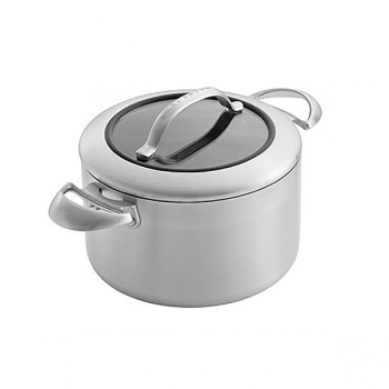 SCANPAN CTX, Pot with glass lid, stainless steel, non-stick coating, handles stainless steel, Ø 20 cm, 3.5 l