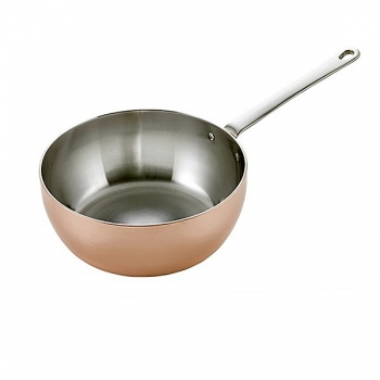 SCANPAN Maitre D' Induction, Sauteuse, shiny pol. copper/stainless steel, handle stainless steel, Ø 20 cm