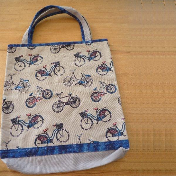 """Kentyon-Design-Baumwoll-Einkaufstasche, M, """"Bicycles"""" , ca. H 40 x B 35 cm"""