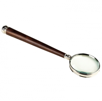 Magnifying Glass with rosewood handle, magnification x3, Dimensions: l 32 x Ø 8.5 x h 2 cm