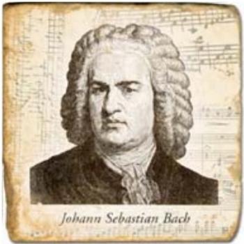 Marble Tile, Theme: Bach, antique finish, hanger, anti slip nubs, Dim.: l 20 x w 20 x h 1 cm