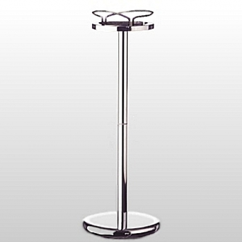 Champagne/Wine Cooler Floor Stand Butler, shiny chromed steel, h 68.5 x Ø 25.5 cm, 3.4 kg
