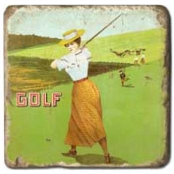 Marble Tile, Theme: Sports 1 B, antique finish, hanger, anti slip nubs, Dim.: l 20 x w 20 x h 1 cm