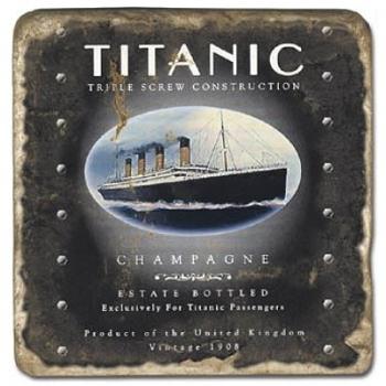 Marble Tile, Theme: Titanic A, antique finish, hanger, anti slip nubs, Dim.: l 20 x w 20 x h 1 cm