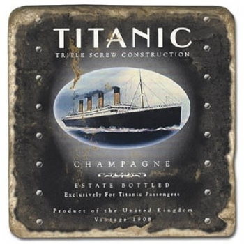 Marble Tile, Theme: Titanic C, antique finish, hanger, anti slip nubs, Dim.: l 20 x w 20 x h 1 cm