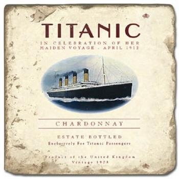 Carrelage en marbre, motif le Titanic D, finition antique, illet pour l'accroche, pieds antidérapants, L 20 xl 20 x h 1 cm