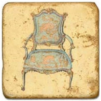 Marble Tile, Theme: Classic Chairs A, antique finish, hanger, anti slip nubs, Dim.: l 20 x w 20 x h 1 cm