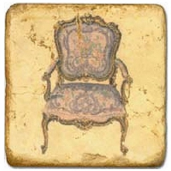 Marble Tile, Theme: Classic Chairs B, antique finish, hanger, anti slip nubs, Dim.: l 20 x w 20 x h 1 cm
