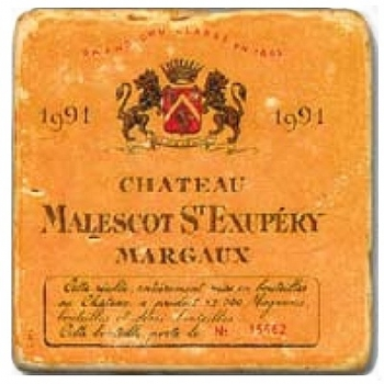 Marble Tile, Theme: French Wine Labels 2 C, antique finish, hanger, anti slip nubs, Dim.: l 20 x w 20 x h 1 cm